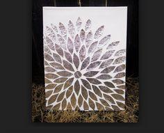 A really cool tin foil flower idea