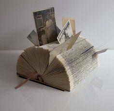 Desk Organiser Folded Vintage Book Art