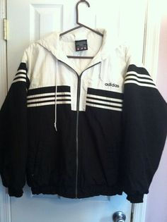 rare vtg adidas jacket retro hip hop puffer 80's trefoil sz s/ m hooded hoodie from $150.0