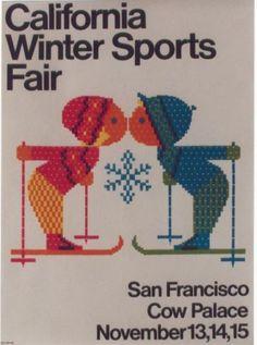 Details zu Original vintage poster CALIFORNIA WINTER SPORTS FAIR 64