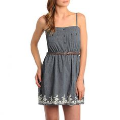 Belted Border Print Dress with Pockets
