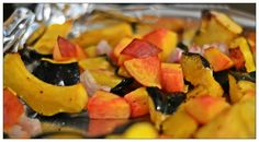 Roasted Squash with Peaches and Shallots   YouAnew Lifestyle Nutrition.. Quick and Easy Fall Foods