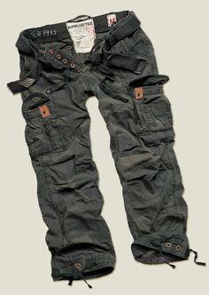 """""""Premium"""" vintage trousers par  Surplus Tek - Cologne - They look everyday comfortable"""