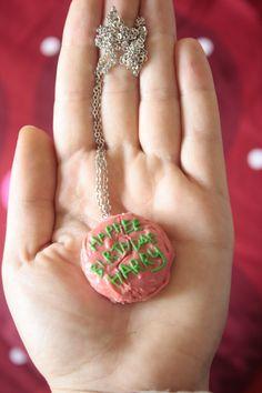 'Happee Birthdae Harry - Hagrid's cake Necklace' by theicecreamvan