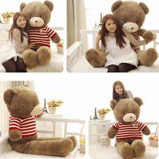 100% Cotton Red Cute 90CM Giant Big Stuffed Plush Teddy Bear Huge Soft Toy Hot!!