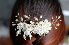 "Купить Гребень ""Luna di miele"" - macherrr, wedding, wedding accessories, гребень для волос, гребень"