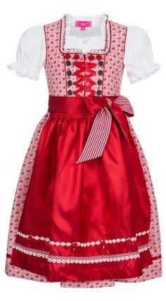 Kinderdirndl Rosl in Rot von Krüger