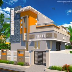 Readymade independent Duplex House in Kumbakonam for Sale and Occupation House Main Gates Design, Single Floor House Design, Main Entrance Door Design, House Outside Design, House Front Design, House Design Photos, Small House Design, Cool House Designs, 2bhk House Plan