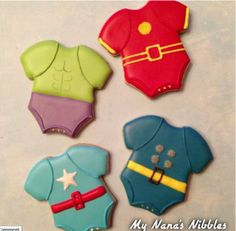Avengers baby shower cookies