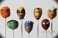 The Avengers inspired cake pops by SUSYPOPS on Etsy, $47.50