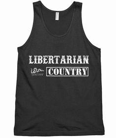 7b46592c9 Libertarian Country Logo Tank Top Tank Tops, Unisex, Halter Tops, Muscle  Shirts,