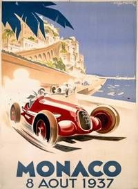 The old Monaco race posters are great, this one is from 1937, Monaco Grand Prix F1 race