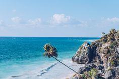 Mexique - Tulum, plage des ruines archéologiques © Refuse to hibernate #Mexique #Yucatan #Travel #Voyage