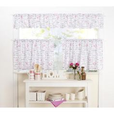 KOO Patisserie Cafe Curtain White 300 Cm