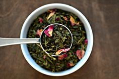 Organic Blossom- Shuswap Infusions Luxury Loose Leaf Green Tea w/ Cherry & Rose Petals