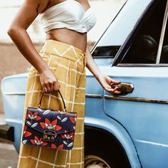 Furla goes to Cuba! We traveled to Havana with fashion influencers and Stay tuned for more pics of their trip Cuban Cars, Going To Cuba, Tropical Style, Figure It Out, Furla, Havana, Coachella, Mini Bag, Satchel