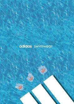 #adidas #swimwear #ads Visit our website at www.firethorne.org! #creativeadvertising #advertisement #creative #ads #graphic #design #marketing #contentmarketing #content