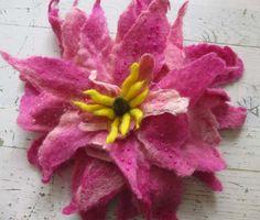 Wet felted flower