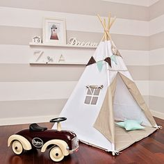 Teepee Kids Play Tent Tipi Scandinavian White by FUNwithMUM