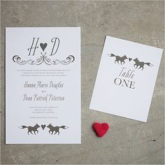 fox wedding invitations