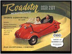 Vintage Car Print - Messerschmitt KR201 Sport Roadster - Microcar