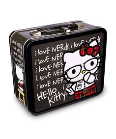 Another great find on #zulily! Black Hello Kitty 'I Love Nerds' Lunch Box by Loungefly #zulilyfinds
