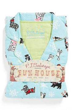 PJ Salvage Print Flannel Pajamas available at #Nordstrom