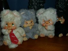Set of 4 NYAMY Washino 1979 Peppi, Vanilla, Nappy, Felina Vintage RARE