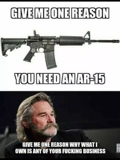 So, now this is your argument?  It is our business because you cannot convince me that you are rational enough, and you cannot ensure that your assault weapons will not get into the wrong hands.  In LV, he would not have had half of his weaponry if there had been checks in place to say here's a guy with something in mind.