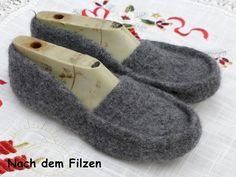 Knitting Patterns, Felt Tutorial, Diy Crafts Home, Mocassin Shoes, Knitting Stitches, Knit Patterns, Crochet Pattern