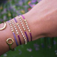 Why not make this gorgeous Rhinestone Sliding Knot Bracelet?
