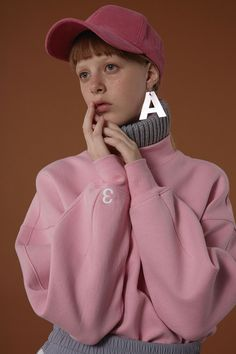 Basic ADER sweatshirt - baby pink