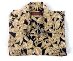 Tori Richard Shirt Hawaiian Button Up Cotton Palm Print Camp Resort Mens M | eBay