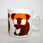 Koala in orange and brown by anamama