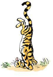 """Tigger was standing on his head and singing """"Twinkle Twinkle Little Star"""" backwards"""