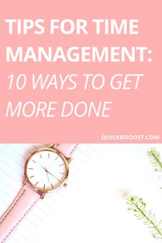 10 awesome tips for time management that will allow you to get more done and better utilize your time. Follow these time management tips and improve how you manage your time! #timemanagement