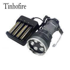 37.40$  Buy here - http://alia18.shopchina.info/go.php?t=32799202446 - Tinhofire 8000 Lumens CREE XM-L 6x T6 LED Flashlight Torch Portable light Lamp XY-600 +4xbattery+4-slot charger 37.40$ #buyonlinewebsite