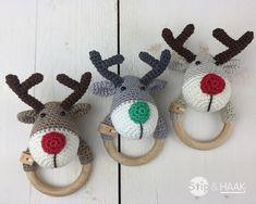 Stip & HAAK: Reindeer rattle. Link to free pattern