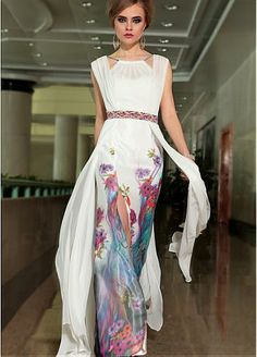 564f8fe2490 Buy 2014 Athens Style Straps Floor Length Chiffon Dresses 30905 Color Just  As Picture Show Online