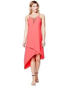 Ellia Strappy Asymmetrical Dress | GUESS.com
