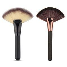 Natural Vogue Fan Shape Makeup Brush Blending Highlighter Contour Face Powder Cosmetics New #Affiliate