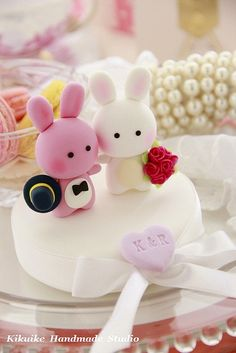 Wedding Cake Topper-love bunny and rabbit by charles fukuyama, via Flickr