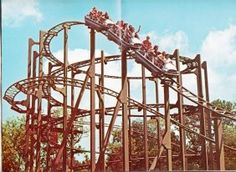 """My first roller coaster at WOF. Henry saw this picture and said """"mom thats Worlds of fun. is it open yet?"""" The boys LOVE spending our summers there :) Roller Coasters, Kansas City Missouri, Great Memories, Worlds Of Fun, Oceans, Amusement Parks, Nostalgia, Travel, Viajes"""