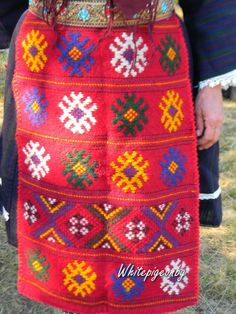 Bulgarian apron embroidery
