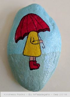 Girl Painted Rock - Sep 2018 - Girl Painted Rock – Sep 2018 You are in the right place about flower crafts Here we offer you the - Painted Rock Animals, Painted Rocks Craft, Hand Painted Rocks, Rock Painting Patterns, Rock Painting Ideas Easy, Rock Painting Designs, Pebble Painting, Pebble Art, Stone Painting