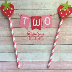 Strawberry Birthday Age Cake Bunting Topper - Smash Cake - Strawberry Shortcake Party - Pink Green B Happy Birthday Banner Printable, Happy Birthday Banners, Birthday Decorations, Baby First Birthday, 1 Birthday, Birthday Ideas, Birthday Parties, Strawberry Shortcake Birthday, Cake Bunting