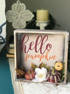 Fall Wood Crafts, Fall Arts And Crafts, Easy Fall Crafts, Diy Crafts, Fall Halloween, Halloween Crafts, Holiday Crafts, Fall Projects, Dollar Tree Crafts