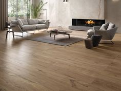 This is the Flaviker Cozy Brown ceramic wood effect floor tile we have chosen for Kitchen, Dining, Living open plan space. We don't want this furniture/look, but this is the floor!