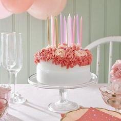 Geburtstagskerzen gold-rosa-pink, 16 Stück Rose Candle, Cupcakes, Vanilla Cake, Pink, Candles, Desserts, Gold, Food Cakes, Grown Up Parties