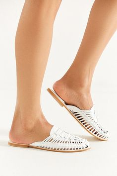 Cute Closed-Toe Sandals We Love for the Summer J Shoes, Mules Shoes, Heeled Mules, White Huaraches, Closed Toe Sandals, Cute Sandals, Clearance Shoes, Shoes Women